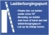 Opstelplaats staande ladder (kunststof)